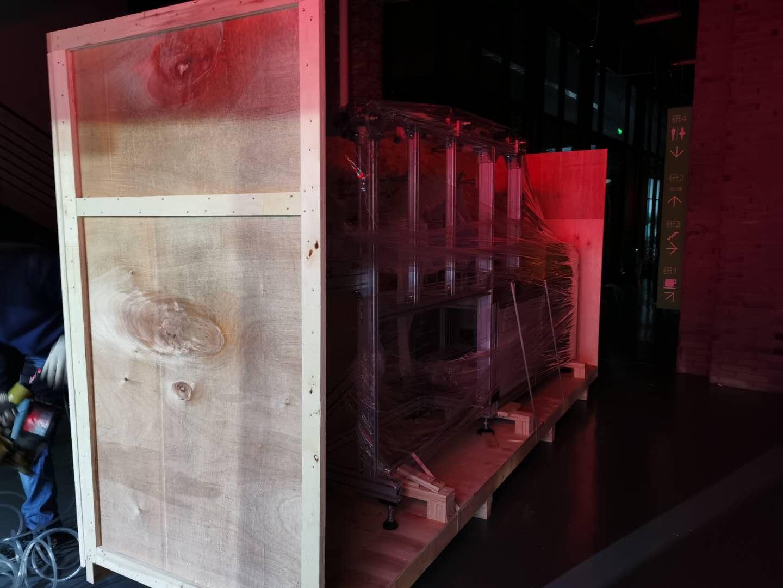 口罩机出口木箱包装